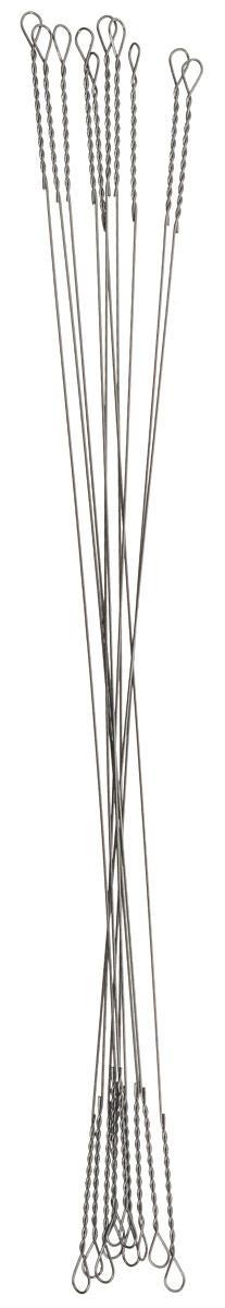Поводок рыболовный Yoshi Onyx Wire Leader String, 0,275 мм, 10 см, 10 шт92817Поводки Yoshi Onyx надежны, быстро монтируются и могут достойно противостоять щучьим атакам, не давая хищнику срезать приманку. Такие поводки отлично сработают и при проведении объемных приманок через заросли и кувшинки, при анимации крупных джерков или мягкой резины. С одинаковой вероятностью на приманку, оснащенную тонким струнным поводком, может пойматься и щука, и голавль, и жерех с язем. Отсутствие слабых звеньев исключает возможность схода хищника. Большинство рыболовов применяет поводок-струну и вовсе без дополнительной оснастки. Крепления при таком способе производятся методом скрутки. Для монтажа приманки просто нужно раскрутить косичку. Следует с вниманием отнестись при подобном креплении поводка к плетеному шнуру - если диаметр струны будет меньше диаметра шнура, то велика вероятность, что поводок будет резать плетенку.