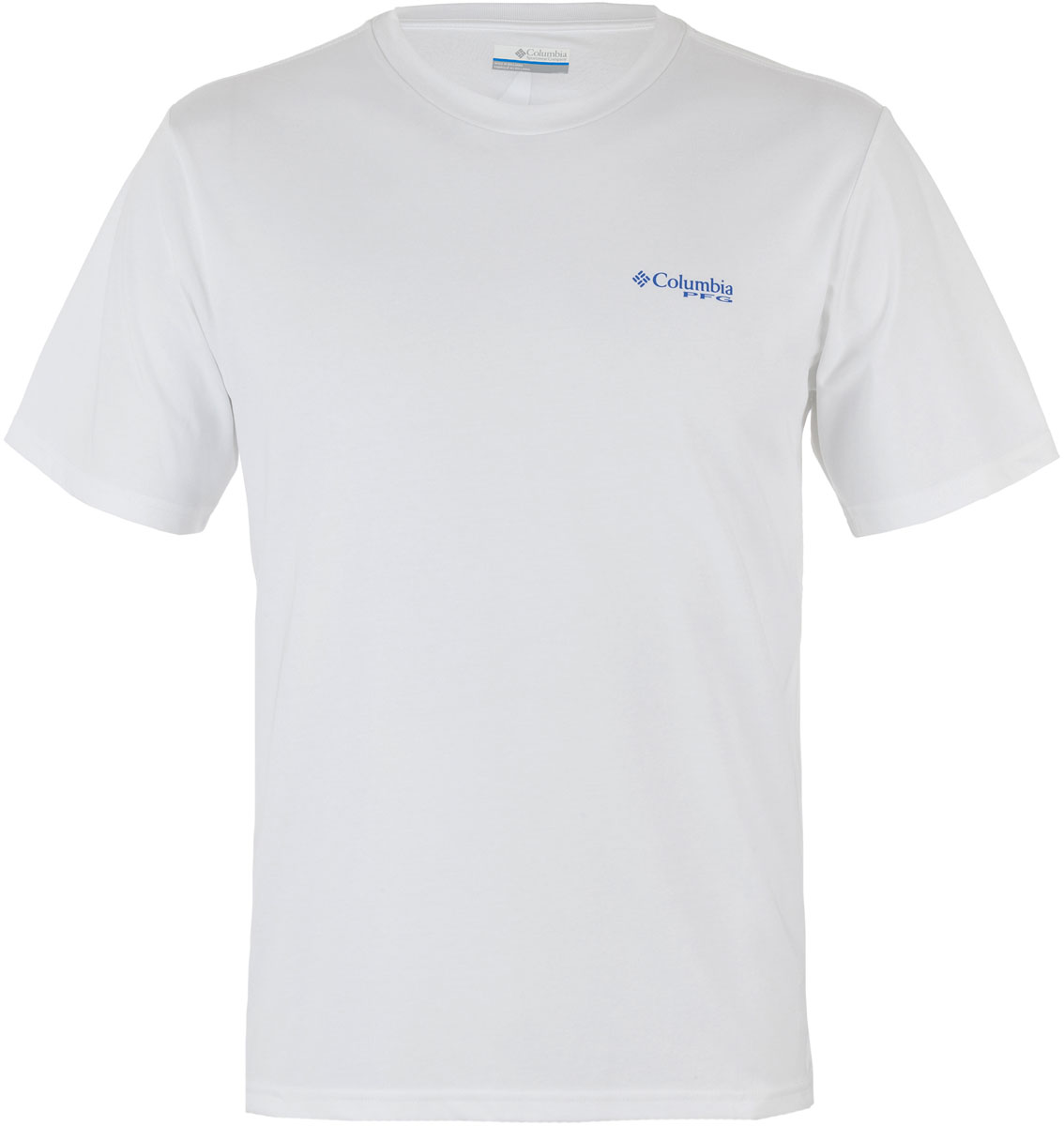 Футболка мужская Columbia PFG Shoreline Slam II SS T-shirt, цвет: белый. 1717161-100. Размер XL (52/54)