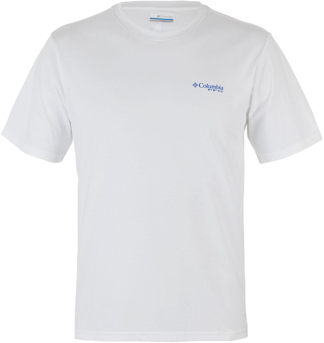 Футболка мужская Columbia PFG Tools Elements SS T-shirt, цвет: белый. 1717221-100. Размер M (46/48)
