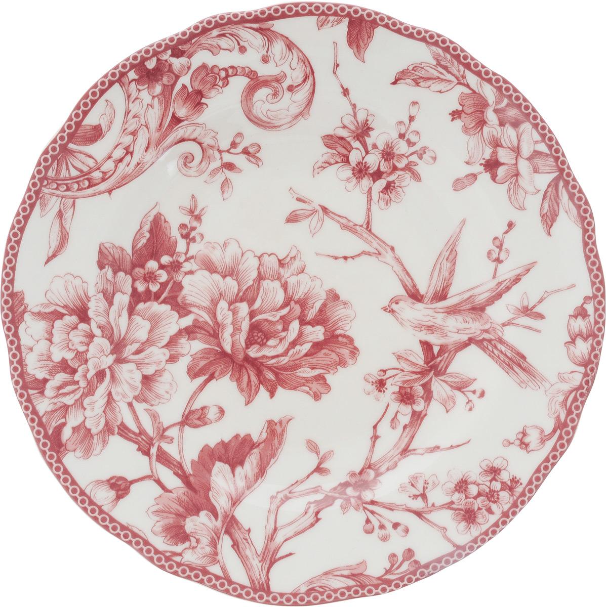 """Десертная тарелка Sango Ceramics """"Аделаида Бордо"""", изготовленная из высококачественной керамики, имеет изысканный внешний вид. Такая тарелка прекрасно подходит как для торжественных случаев, так и для повседневного использования. Идеальна для подачи десертов, пирожных, тортов и многого другого. Она прекрасно оформит стол и станет отличным дополнением к вашей коллекции кухонной посуды.Можно использовать в посудомоечной машине и СВЧ.Диаметр тарелки: 22 см.Высота тарелки: 3 см."""