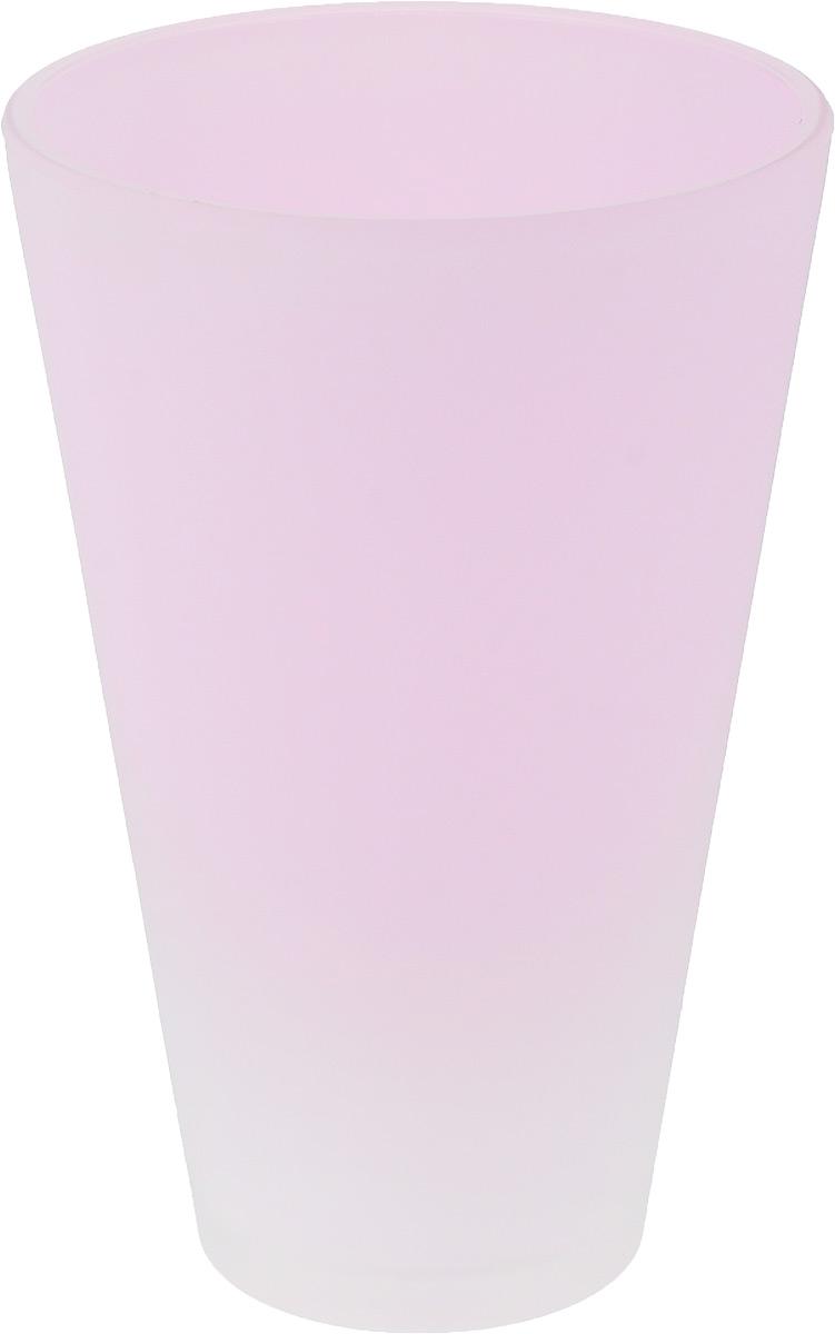 Кашпо NiNaGlass, цвет: розовый, высота 21 см91-014-Ф140 РОЗ-ФЛУОРКашпо NiNaGlass имеет уникальную форму, сочетающуюся как с классическим, так и с современным дизайном интерьера. Оно изготовлено из высококачественного стекла и предназначено для выращивания растений, цветов и трав в домашних условиях. Кашпо NiNaGlass порадует вас функциональностью, а благодаря лаконичному дизайну впишется в любой интерьер помещения. Диаметр кашпо (по верхнему краю): 14 см.Высота кашпо: 21 см.
