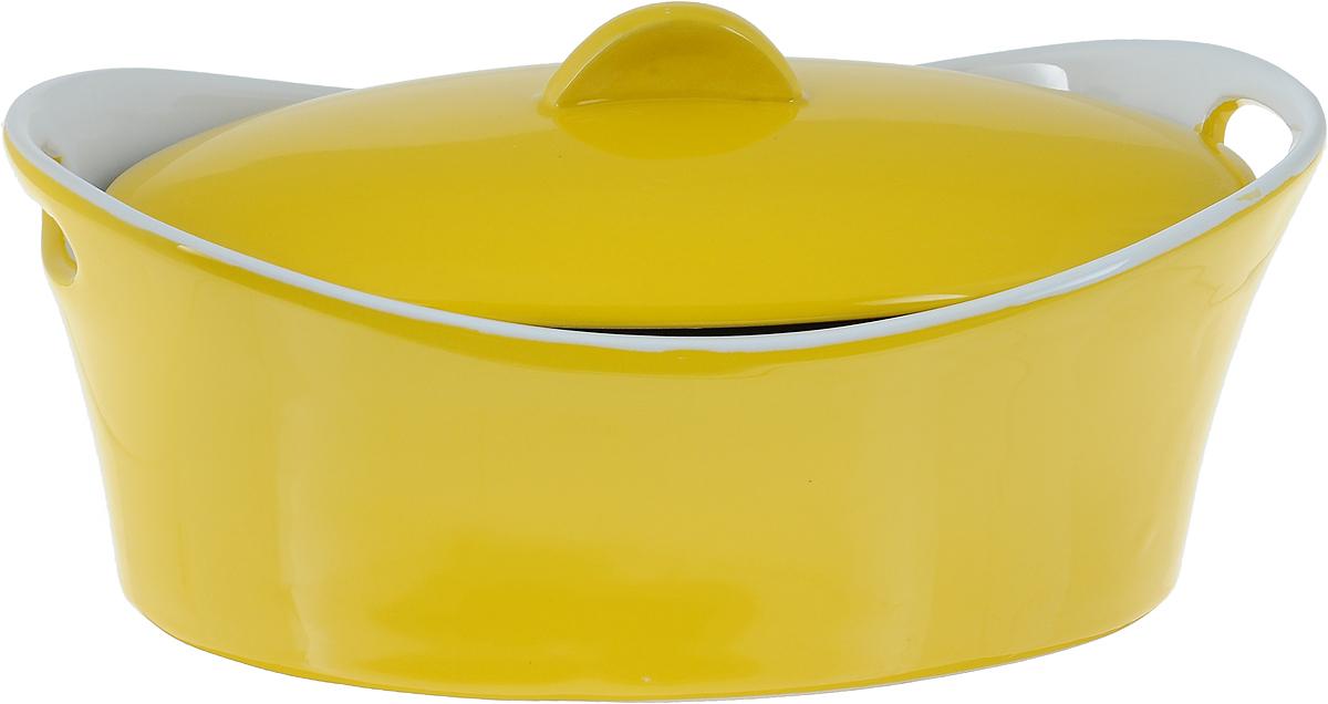 """Кастрюля """"Vesta"""" изготовлена из экологически чистой жаропрочной керамики с глазурованным покрытием. Изделие обеспечивает равномерное приготовление блюд по всей поверхности и долго сохраняет тепло. Пища, приготовленная в керамической посуде, сохраняет свои вкусовые качества и не может нанести вред здоровью человека, благодаря экологической чистоте материала. Керамика - один из самых лучших материалов, который удерживает тепло, медленно и равномерно его распределяет. Такая кастрюля подходит для запекания, тушения и варки разнообразных блюд. Посуда не впитывает посторонние запахи, не имеет труднодоступных выступов или изгибов, которые накапливают грязь, и легко чистится. Пригодна для использования в духовом шкафу, в микроволновой печи при температуре до 220°С. Можно использовать для хранения продуктов в холодильнике. Пригодна для мытья в посудомоечной машине."""