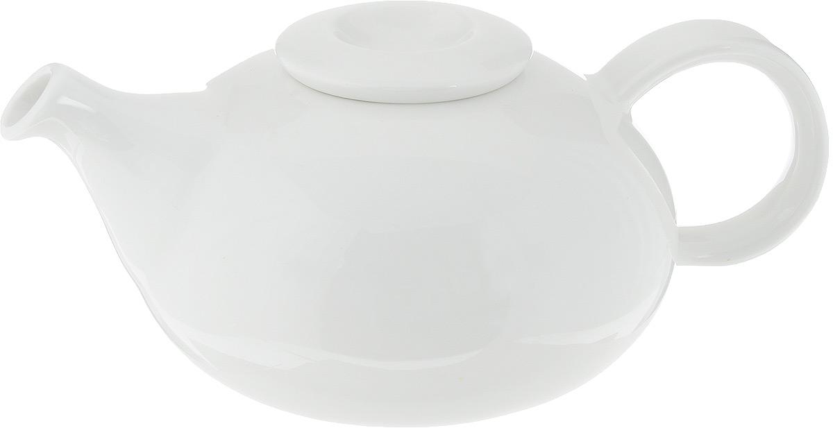 Чайник заварочный Ariane Коуп, 400 млAVCARN62040Заварочный чайник Ariane Коуп изготовлен из высококачественного фарфора. Глазурованное покрытие обеспечивает легкую очистку. Изделие прекрасно подходит для заваривания вкусного и ароматного чая, а также травяных настоев. Оригинальный дизайн сделает чайник настоящим украшением стола. Он удобен в использовании и понравится каждому.Можно мыть в посудомоечной машине и использовать в микроволновой печи. Диаметр чайника (по верхнему краю): 4 см. Высота чайника (без учета крышки): 7 см. Высота чайника (с учетом крышки): 8 см.