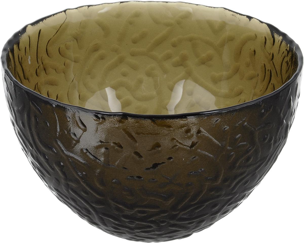Салатник NiNaGlass Ажур, цвет: дымчатый, диаметр 12 смNG83-040ФСалатник NiNaGlass Ажур выполнен извысококачественного стекла и имеет рельефную поверхность. Он прекрасно впишется в интерьервашей кухни и станет достойным дополнением ккухонному инвентарю. Не рекомендуется использовать вмикроволновой печи и мыть в посудомоечноймашине.