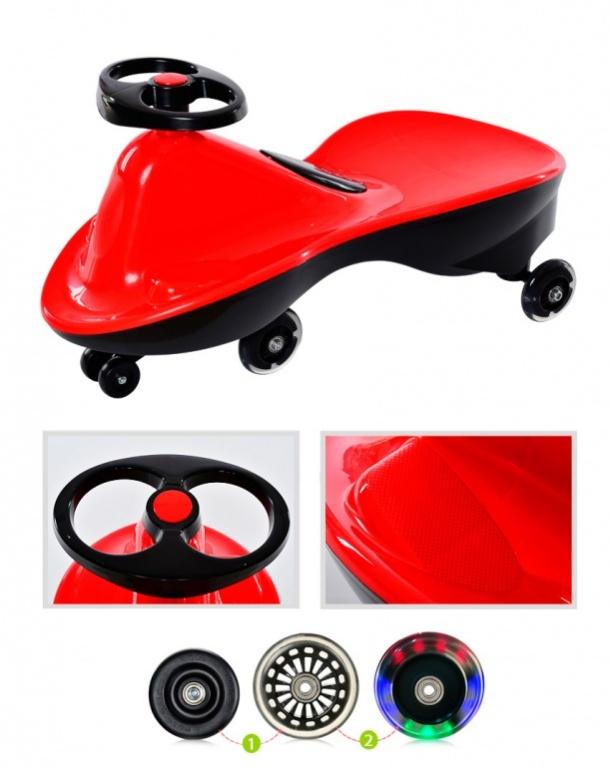 BradexМашинка детская Бибикар Спорт с полиуретановыми колесами цвет красный Bradex