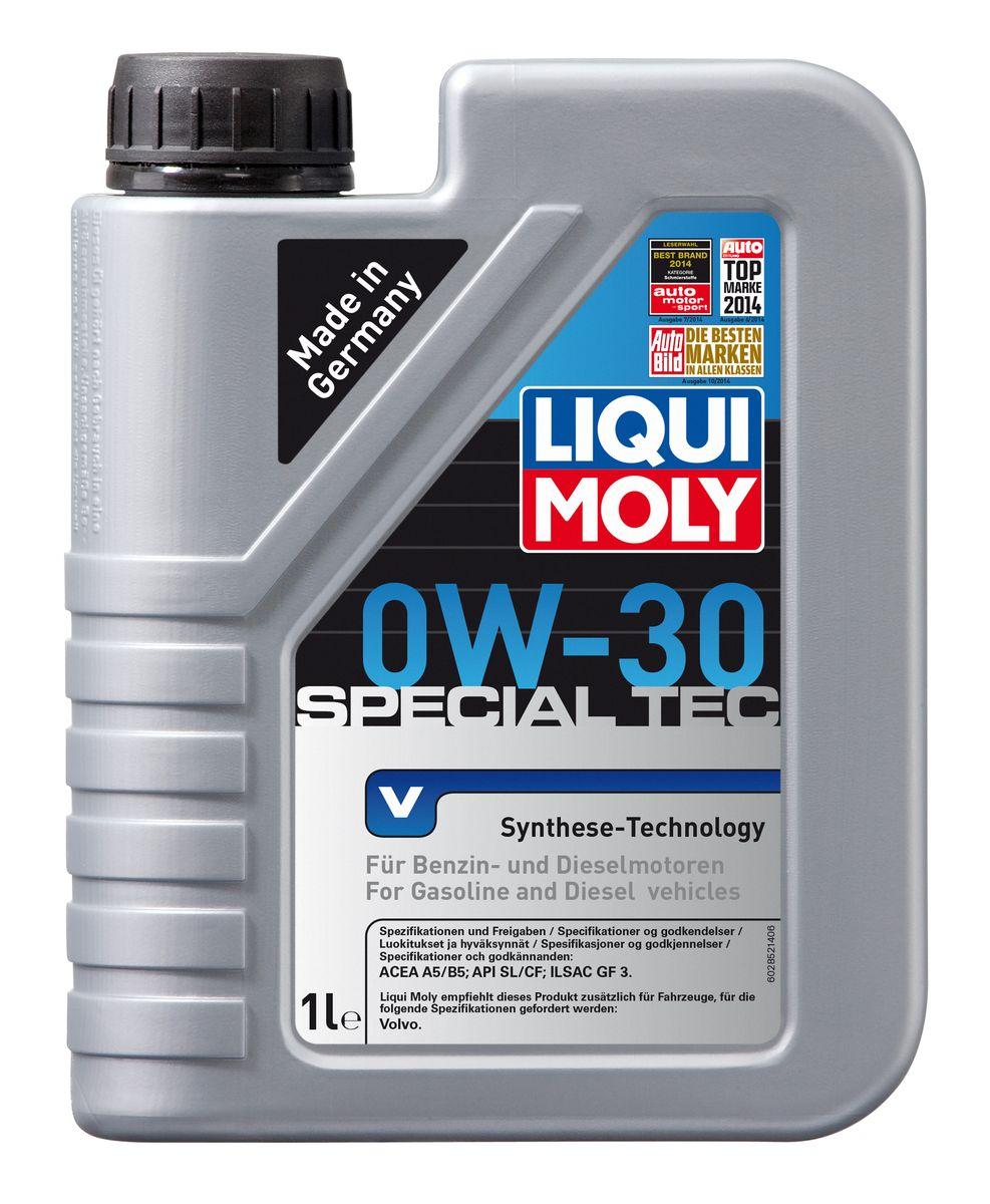 Масло моторное Liqui Moly Special Tec V, НС-синтетическое, 0W-30, 1 л присадка liqui moly benzin system pflege для ухода за бензиновой системой впрыска 0 3 л