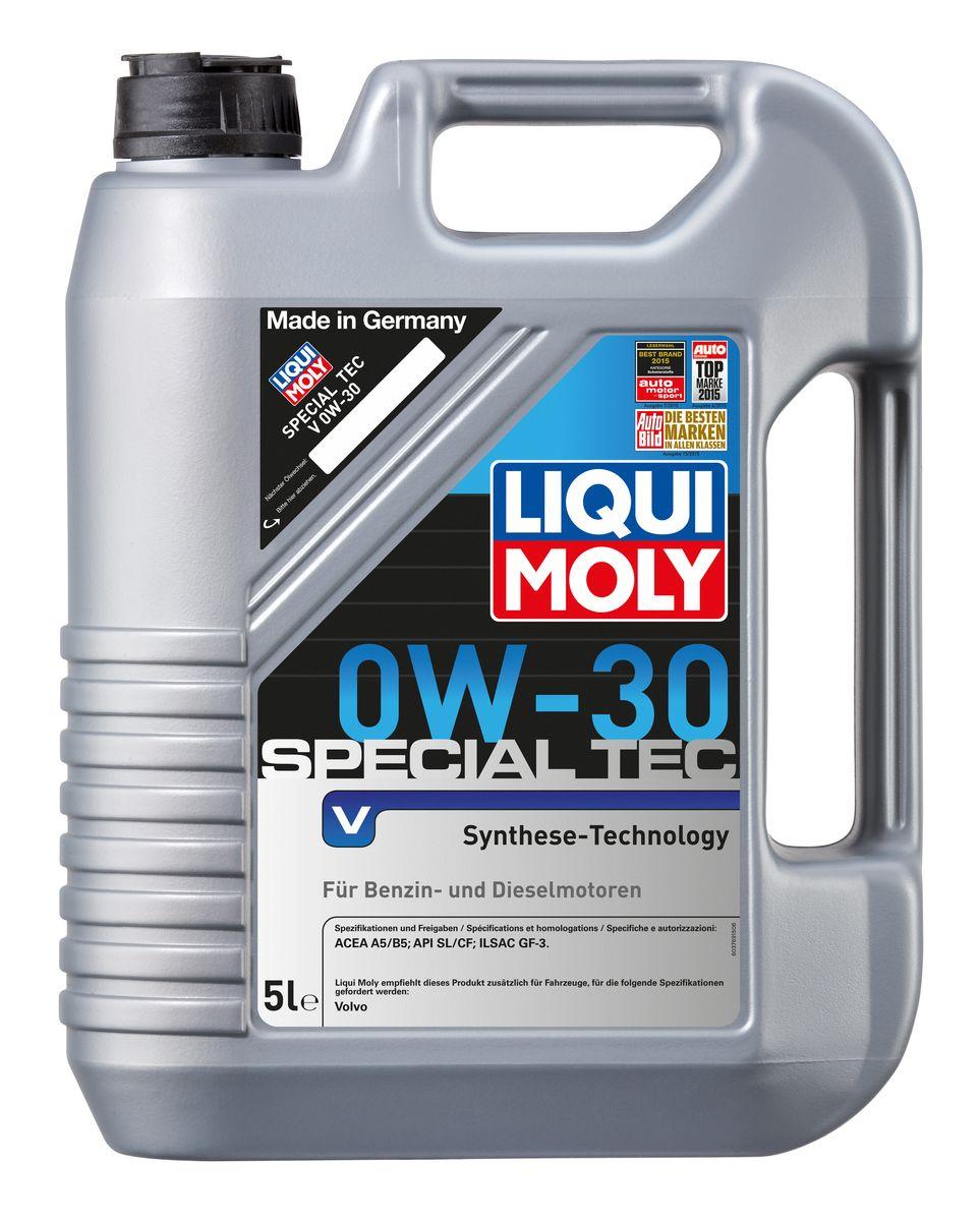 Масло моторное Liqui Moly Special Tec V, НС-синтетическое, 0W-30, 5 л2853Масло моторное Liqui Moly Special Tec V рекомендуется для автомобилей Volvo. НС-синтетическое легкотекучее моторное масло обладает отличной термоокислительной стабильностью, эффективно снижает износ, уменьшает потери на трение, предотвращает загрязнение двигателя. Оптимально для современных двигателей с управлением фазами ГРМ и высотой подъема клапанов, турбонаддувом, интеркулером, охлаждением газов рециркуляции. Используемая в Special Tec V рецептура базовых компонентов на основе новейших технологий синтеза, обеспечивает высочайшие защитные свойства в сочетании с отличными низкотемпературными характеристиками масла. Использование современного пакета присадок обеспечивает исключительную защиту от износа и снижение расхода топлива. Особенности: - Отличные пусковые свойства в мороз- Быстрое поступление масла ко всем деталям двигателя при низких температурах- Сокращает расход топлива и эмиссию выхлопных газов- Высокая смазывающая способность- Замечательная термоокислительная стабильность и устойчивость к старению- Оптимальная чистота двигателя- Протестировано и совместимо с катализаторами и турбонаддувомДопуск: -API: CF/SL-ACEA: A5/B5-ILSAC: GF-3-Volvo: VCC 95200377