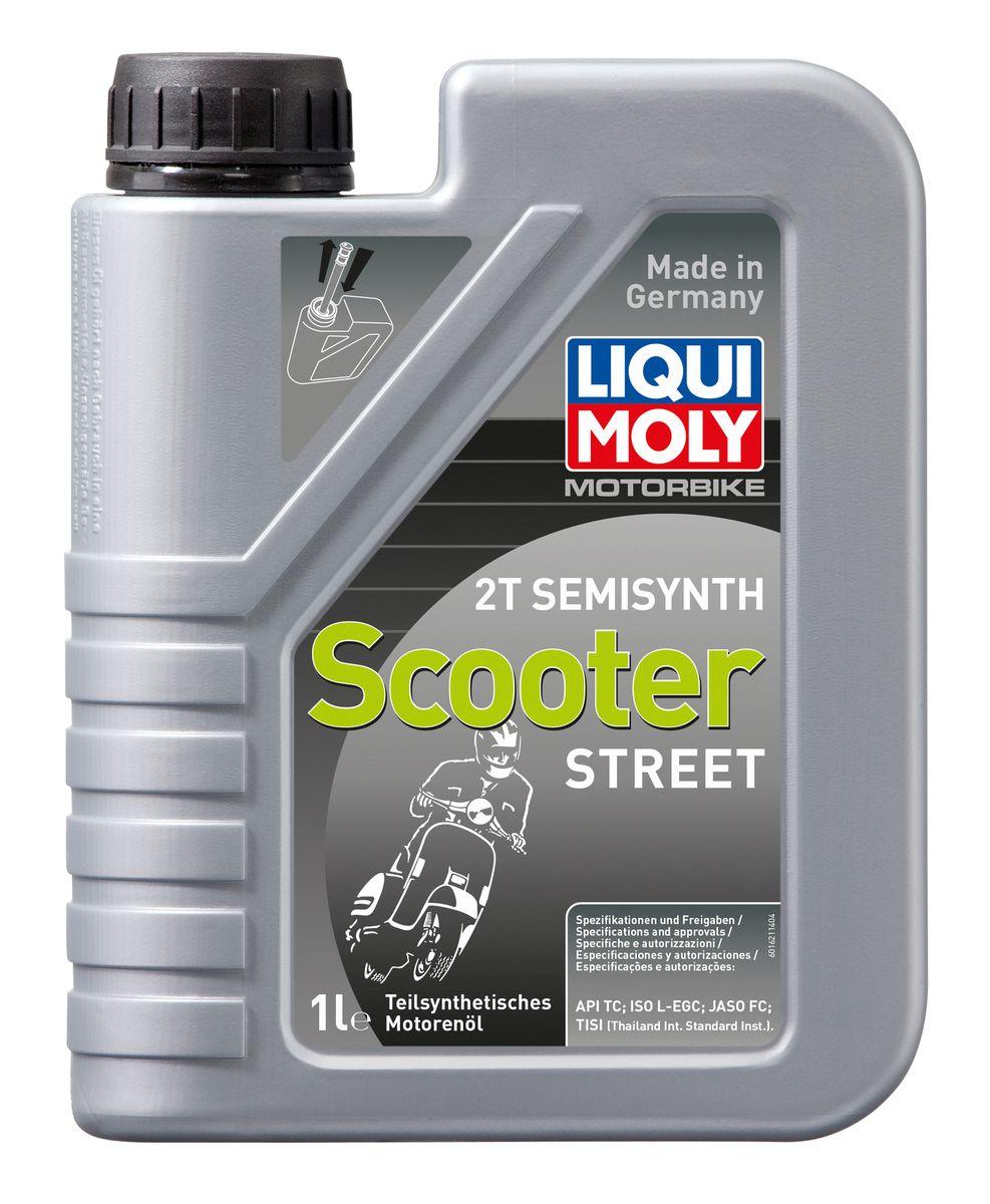 "Масло моторное Liqui Moly ""Motorbike 2T Semisynth Scooter Street"", полусинтетическое, 1 л"