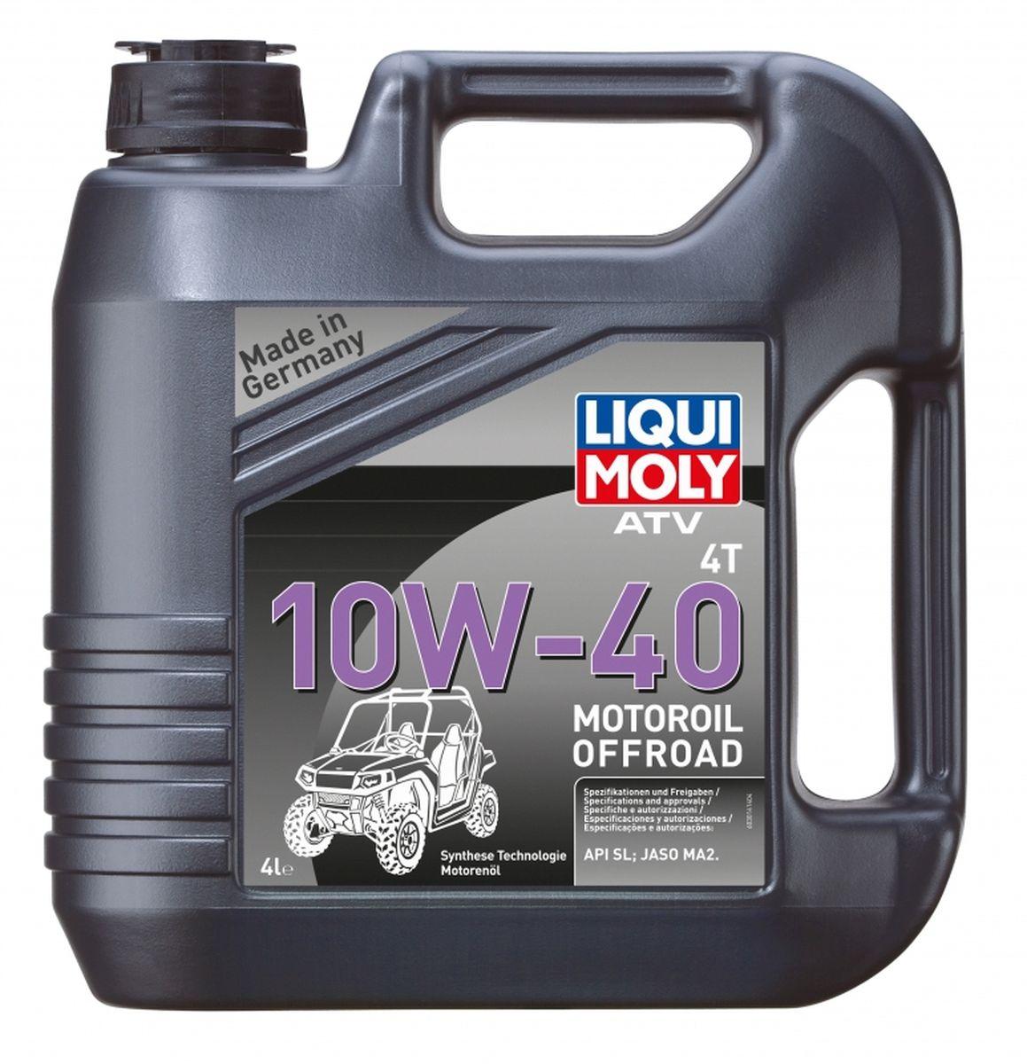 """Масло моторное Liqui Moly """"ATV 4T Motoroil Offroad"""", НС-синтетическое, 10W-40, 4 л"""