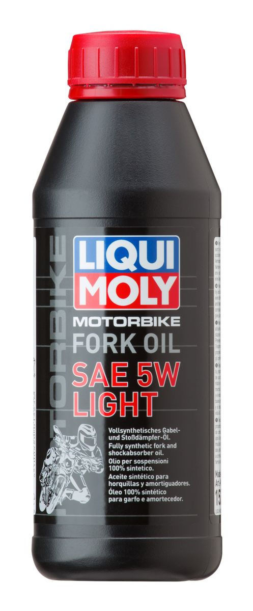 Масло для вилок и амортизаторов Liqui Moly Motorbike Fork Oil Light, синтетическое, 5W, 500 мл присадка в бензин liqui moly 3040 motorbike speed additiv 0 15л