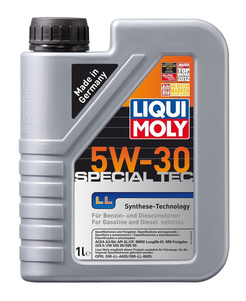 Масло моторное Liqui Moly Special Tec LL, НС-синтетическое, 5W-30, 1 л8054Масло моторное Liqui Moly Special Tec LL рекомендуется для широкого спектра автомобилей с высочайшими требованиями к свойствам моторного масла, таких как Mercedes-Benz, BMW, VW, Opel. HC-синтетическое всесезонное маловязкое моторное масло произведено по новейшим технологическим требованиям. Удовлетворяет условиям LongLife-сервиса. Масло протестировано на турбированных и оснащенных катализаторами моторах. Может использоваться и в двигателях Opel предыдущих поколений, в которых разрешено применение моторных масел данного класса вязкости.Благодаря комбинации НС-синтетических базовых масел и самых современных присадок моторные масла Special Tec LL обеспечивают высочайший уровень защиты от износа, предотвращают образование и накопление отложений в масляной системе и гарантируют стабильное быстрое поступление масла ко всем деталям двигателя. Масло имеет высокий показатель щелочного числа (TBN > 10,5 мг(KOH)/г), что обеспечивает высочайшие моющие свойства.Особенности:- Высочайшие показатели чистоты двигателя - Быстрое поступление масла к деталям двигателя при низких температурах - Очень высокая защита от износа и надежность смазывания - Очень низкие потери масла на испарение - Экономия топлива и снижение вредных выбросов - Проверено на турбированных двигателях и катализатореДопуск:-API: CF/SL -ACEA: A3/B4 -BMW: Longlife-01 -MB: 229.5 -VW: 502 00/505 00Соответствие:-Opel: GM-LL-A025/GM-LL-B025