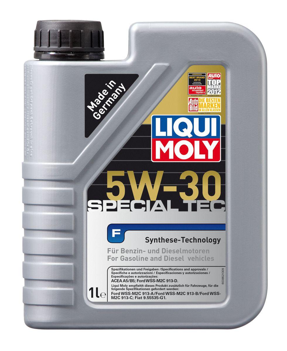 Масло моторное Liqui Moly Special Tec F, НС-синтетическое, 5W-30, 1 л8063Масло моторное Liqui Moly Special Tec F рекомендуется для широкого спектра двигателей Ford, особенно для легкого коммерческого транспорта. Моторное масло на основе НС-синтетической технологии. Оптимально для современных бензиновых и дизельных двигателей, в том числе многоклапапанных, с системой управления фазами газораспределения, турбонаддувом, охлаждением наддувочного воздуха (LLK), фильтром сажевых частиц (DPF). Благодаря комбинации НС-синтетических базовых масел и самых современных присадок моторные масла Special Tec F обеспечивают исключительную защиту от износа, снижение расхода топлива и стабильное быстрое поступление масла ко всем деталям двигателя. Удовлетворяет требованиям новейшей спецификации Ford WSS-M2C913-D. Особенности: - Быстрое поступление масла ко всем деталям двигателя при низких температурах- Высочайшие показатели топливной экономии- Замечательные смазывающие свойства- Хорошая стабильность к старению и окислению- Оптимальная чистота двигателя- Совместимо с катализаторамиДопуск: -ACEA: A5/B5-Ford: WSS-M2C913-DСоответствие: -Fiat: 9.55535-G1-Ford: WSS-M2C913-A/WSS-M2C913-B/WSS-M2C913-C
