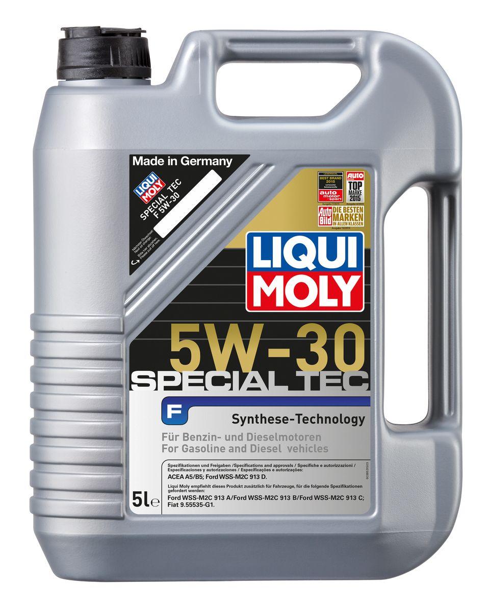 Масло моторное Liqui Moly Special Tec F, НС-синтетическое, 5W-30, 5 л8064Масло моторное Liqui Moly Special Tec F рекомендуется для широкого спектра двигателей Ford, особенно для легкого коммерческого транспорта. Моторное масло на основе НС-синтетической технологии. Оптимально для современных бензиновых и дизельных двигателей, в том числе многоклапапанных, с системой управления фазами газораспределения, турбонаддувом, охлаждением наддувочного воздуха (LLK), фильтром сажевых частиц (DPF).Благодаря комбинации НС-синтетических базовых масел и самых современных присадок моторные масла Special Tec F обеспечивают исключительную защиту от износа, снижение расхода топлива и стабильное быстрое поступление масла ко всем деталям двигателя. Удовлетворяет требованиям новейшей спецификации Ford WSS-M2C913-D.Особенности:- Быстрое поступление масла ко всем деталям двигателя при низких температурах - Высочайшие показатели топливной экономии - Замечательные смазывающие свойства - Хорошая стабильность к старению и окислению - Оптимальная чистота двигателя - Совместимо с катализаторамиДопуск:-ACEA: A5/B5 -Ford: WSS-M2C913-DСоответствие:-Fiat: 9.55535-G1 -Ford: WSS-M2C913-A/WSS-M2C913-B/WSS-M2C913-C