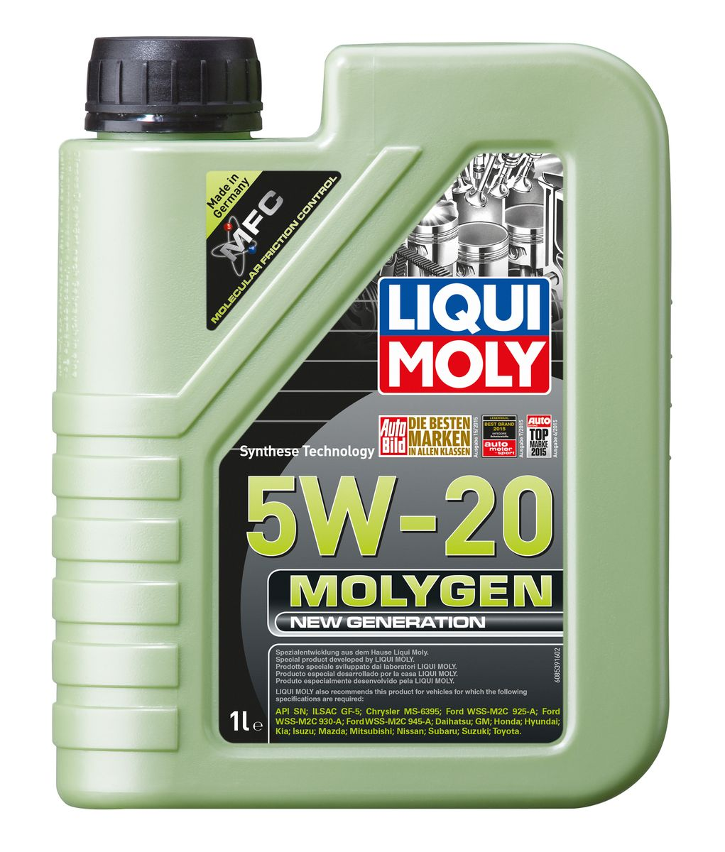 Масло моторное Liqui Moly Molygen New Generation, НС-синтетическое, 5W-20, 1 л hee grand 2017 spring summer men jeans full length business style slim fitted straight denim trousers plus size 29 40 mkn960