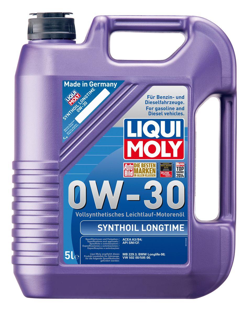 Масло моторное Liqui Moly Synthoil Longtime, синтетическое, 0W-30, 5 л8977Масло моторное Liqui Moly Synthoil Longtime - 100% синтетическое универсальное моторное масло на базе полиальфаолефинов (ПАО) для большинства автомобилей, для которых требования к маслам опираются на международные классификации API и ACEA. Класс вязкости 0W-30 моторного масла на ПАО-базе оптимален для эксплуатации в холодных условиях, обеспечивая уверенный пуск двигателя даже в сильный мороз и высокий уровень энергосбережения (и экономии топлива). Особенности: - Отличные пусковые свойства в мороз- Быстрое поступление масла ко всем деталям двигателя при низких температурах- Высокие показатели по экономии топлива- Высокая смазывающая способность- Замечательная термоокислительная стабильность и устойчивость к старению- Оптимальная чистота двигателя- Протестировано и совместимо с катализаторами и турбонаддувом- Высокая стабильность при высоких температурах- Очень низкий расход масла Допуск: -API: CF/SM-ACEA: A3/B4Соответствие: -BMW: Longlife-98-MB: 229.3-VW: 502 00/505 00