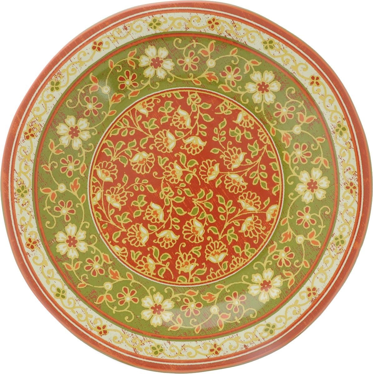 """Десертная тарелка Sango Ceramics """"Кашмир"""", изготовленная из высококачественной керамики, имеет изысканный внешний вид. Такая тарелка прекрасно подходит как для торжественных случаев, так и для повседневного использования. Идеальна для подачи десертов, пирожных, тортов и многого другого. Она прекрасно оформит стол и станет отличным дополнением к вашей коллекции кухонной посуды.Можно использовать в посудомоечной машине и СВЧ.Диаметр тарелки: 23 см.Высота тарелки: 3 см."""