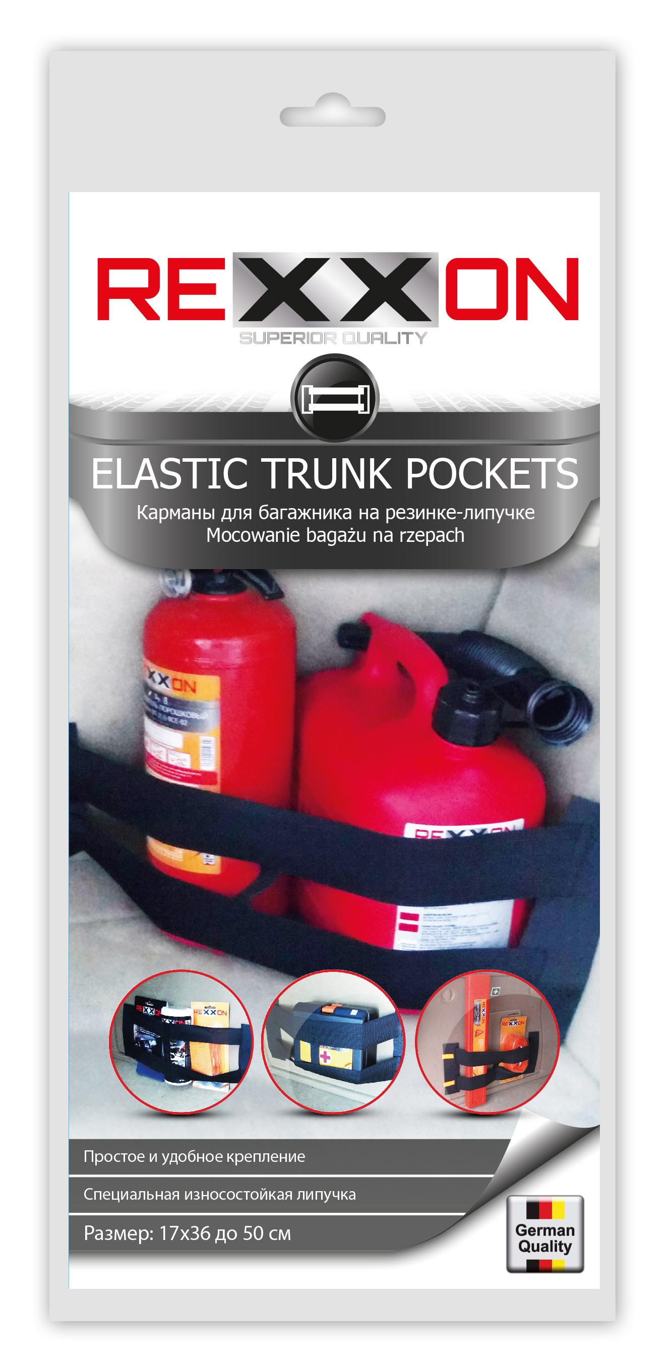 Карман для багажника Rexxon, 36 х 17 см3-10-1-2-1_черныйКарман для багажника Rexxon предназначен для удобства перевозки и хранения вещей в нише, расположенной рядом с колесной аркой. Надежно крепится к обивке с помощью липучки.