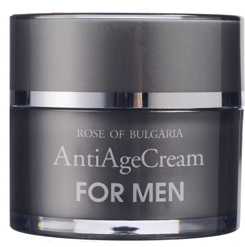 Rose of Bulgaria for men Крем против морщин, 50 мл62873Крем против морщин для мужчин обладает стимулирующим, увлажняющим и омолаживающим действием. Создает ощущение свежести, повышает тонус кожи и улучшает ее общее состояние благодаря входящему в состав крема биопептиду, который увеличивает синтез коллагена на больше чем 300%!В состав крема входят: - розовая вода, насыщенная активными веществами, которые стимулируют обновление клеток и усиливают защитные функции кожи,- экстракт зеленого чая, обладающий противовоспалительными, укрепляющими, антиоксидантными и фотозащитными свойствами,- масло ореха макадамии, которое известно своим сильным увлажняющим и восстанавливающим действием, а также высокой проницаемостью в кожу,- витамин Е - мощный антиоксидант, замедляющий процессы окисления в клетках, что способствует устранению сухоты и шелушения кожи.