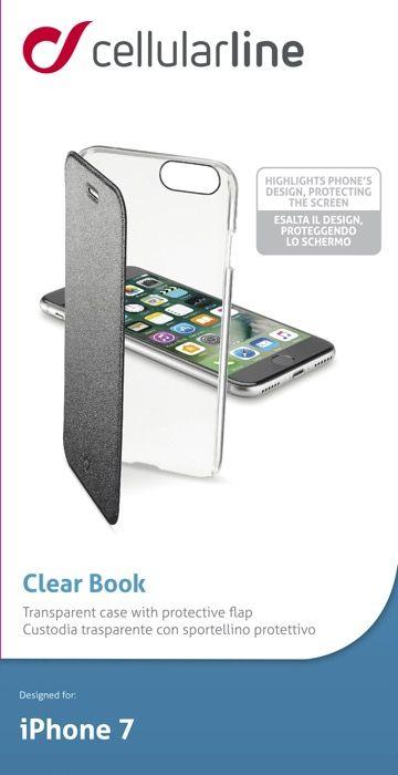 Cellular Line Book чехол для iPhone 7/8, BlackCLEARBOOKIPH747KЧехол-книжка Cellular Line Book для iPhone 7 надежно защитит ваш смартфон от пыли, грязи, царапин, оставив при этом свободный доступ ко всем разъемам устройства. Также имеется возможность использования чехла в виде настольной подставки. Чехол Cellular Line Book - это стильная и элегантная деталь вашего образа, которая всегда обращает на себя внимание среди множества вещей.