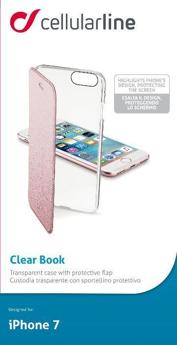 Cellular Line Book чехол для iPhone 7/8, PinkCLEARBOOKIPH747PЧехол-книжка Cellular Line Book для iPhone 7 защитит ваш смартфон от пыли, грязи, царапин, оставив при этом свободный доступ ко всем разъемам устройства. Также имеется возможность использования чехла в виде настольной подставки. Чехол Cellular Line Book - это стильная и элегантная деталь вашего образа, которая всегда обращает на себя внимание среди множества вещей.