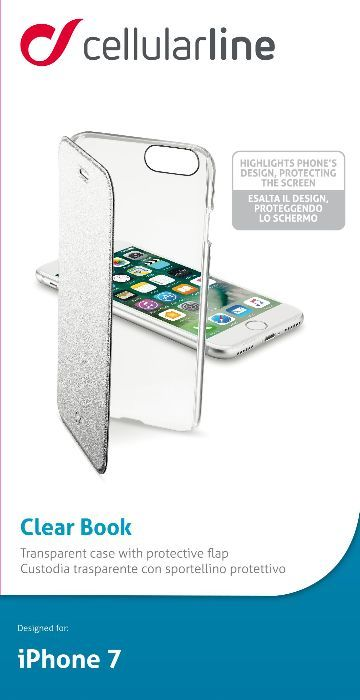 Cellular Line Book чехол для iPhone 7/8, Silver cellular line book agenda чехол для iphone 6 white 21832