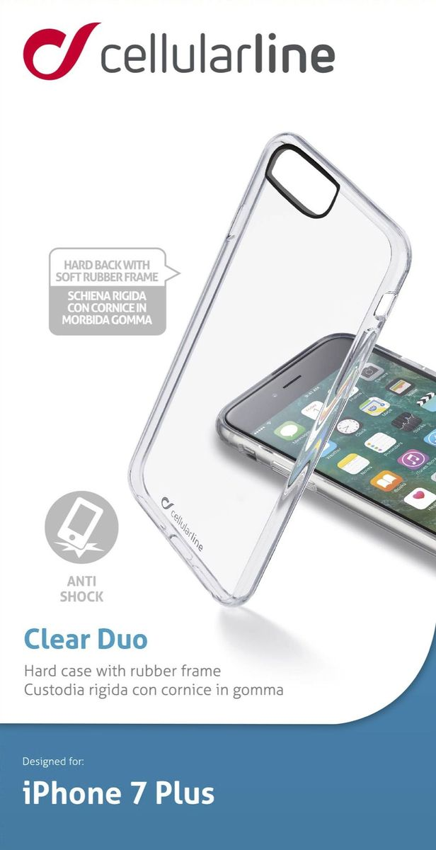 Cellular Line чехол для iPhone 7 Plus/8 Plus, Clear cellular line 34572