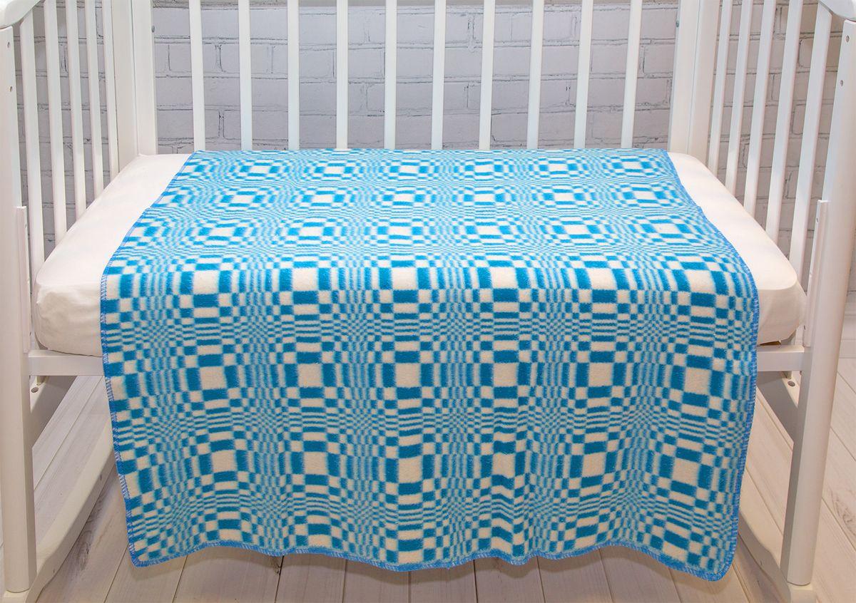 Baby Nice Одеяло детское Клетка цвет голубой