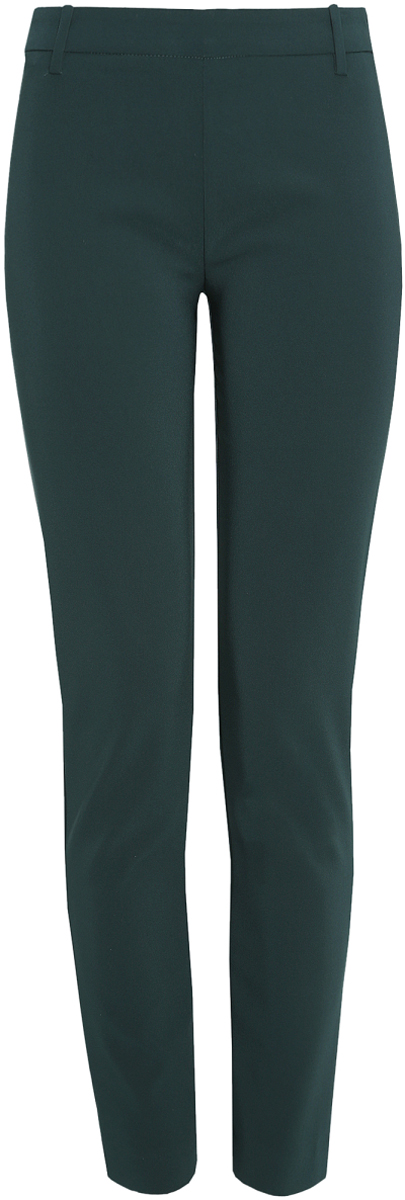 Брюки женские oodji Ultra, цвет: темно-зеленый. 11700209/42250/6900N. Размер 44-170 (50-170)11700209/42250/6900NСтильные женские брюки oodji Ultra изготовлены из качественного полиэстера с добавлением эластана. Модель-слим со стандартной посадкой выполнена в лаконичном стиле. Застегиваются брюки по боковому шву на металлическую молнию. Сзади изделие оформлено имитацией прорезных карманов, а в поясе имеет шлевки для ремня.