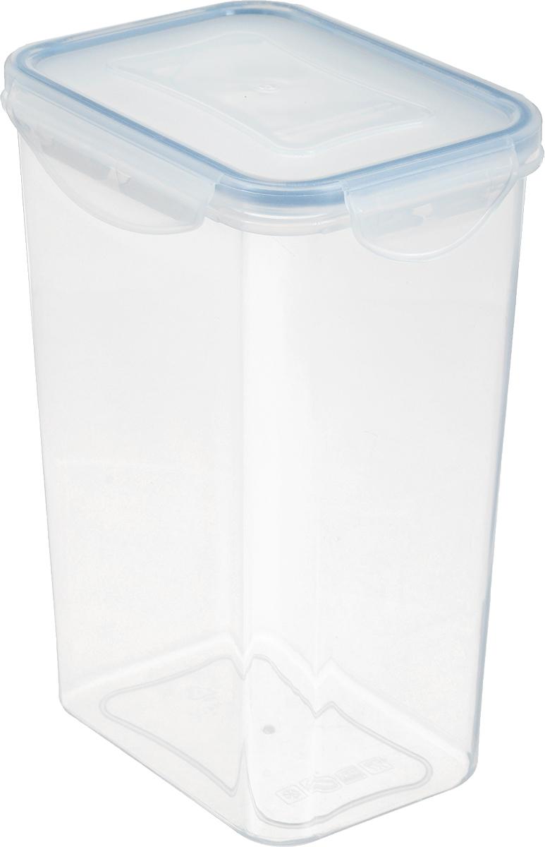 """Контейнер Tescoma """"Freshbox"""" изготовлен из высококачественного пластика. Герметичная  крышка, выполненная из пластика и снабженная силиконовой вставкой, надежно закрывается с  помощью четырех защелок. Изделие подходит для специй, чая, кофе, круп, сахара и соли и  многого другого.  Такой контейнер стильно дополнит интерьер кухни и поможет эффективно  организовать пространство. Подходит для мытья в посудомоечной машине, хранения в холодильных и морозильных камерах.  Размер контейнера (по верхнему краю): 12,5 х 9 см. Размер контейнера (с учетом крышки): 13,5 х 10 х 18 см."""