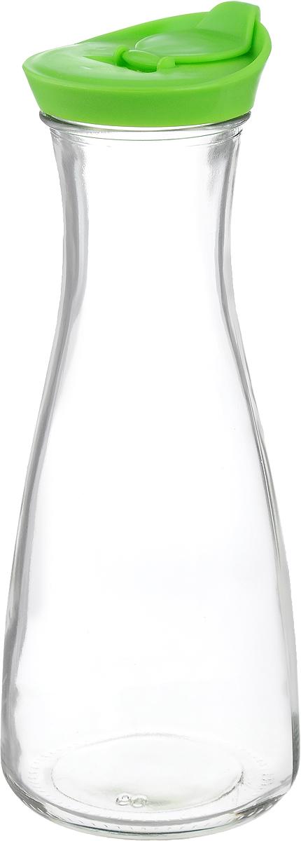 Бутылка для напитков Zeller, цвет: прозрачный, салатовый, 900 мл19705_прозрачный, салатовыйБутылка для напитков Zeller, изготовленная из прочного стекла, оснащена пластиковой крышкой с отверстием для жидкости. Это позволяет дозированно наливать содержимое. Изделие предназначено для воды, чая, фруктовых соков и других холодных напитков. Оригинальный дизайн и эргономичная форма превращают бутылку в стильный и функциональный аксессуар. Такая бутылка идеальна для ежедневного использования. Она украсит любой интерьер кухни и пригодится как дома, так и на даче. Диаметр бутылки (по верхнему краю): 6,2 см.Диаметр основания бутылки: 9,5 см.Высота бутылки (с учетом крышки): 26 см.