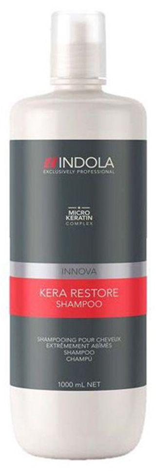 Indola Шампунь Кератиновое Восстановление Kera Restore 1000 мл1854736Мягко очищает и восстанавливает сильно поврежденные волосы после химического или физического воздействия. Благодаря формуле с кератином придает упругость и силу волосам. Для сильно поврежденных волос. Рекомендуется использовать в комплексе с маской и серумом INDOLA Kera Restore