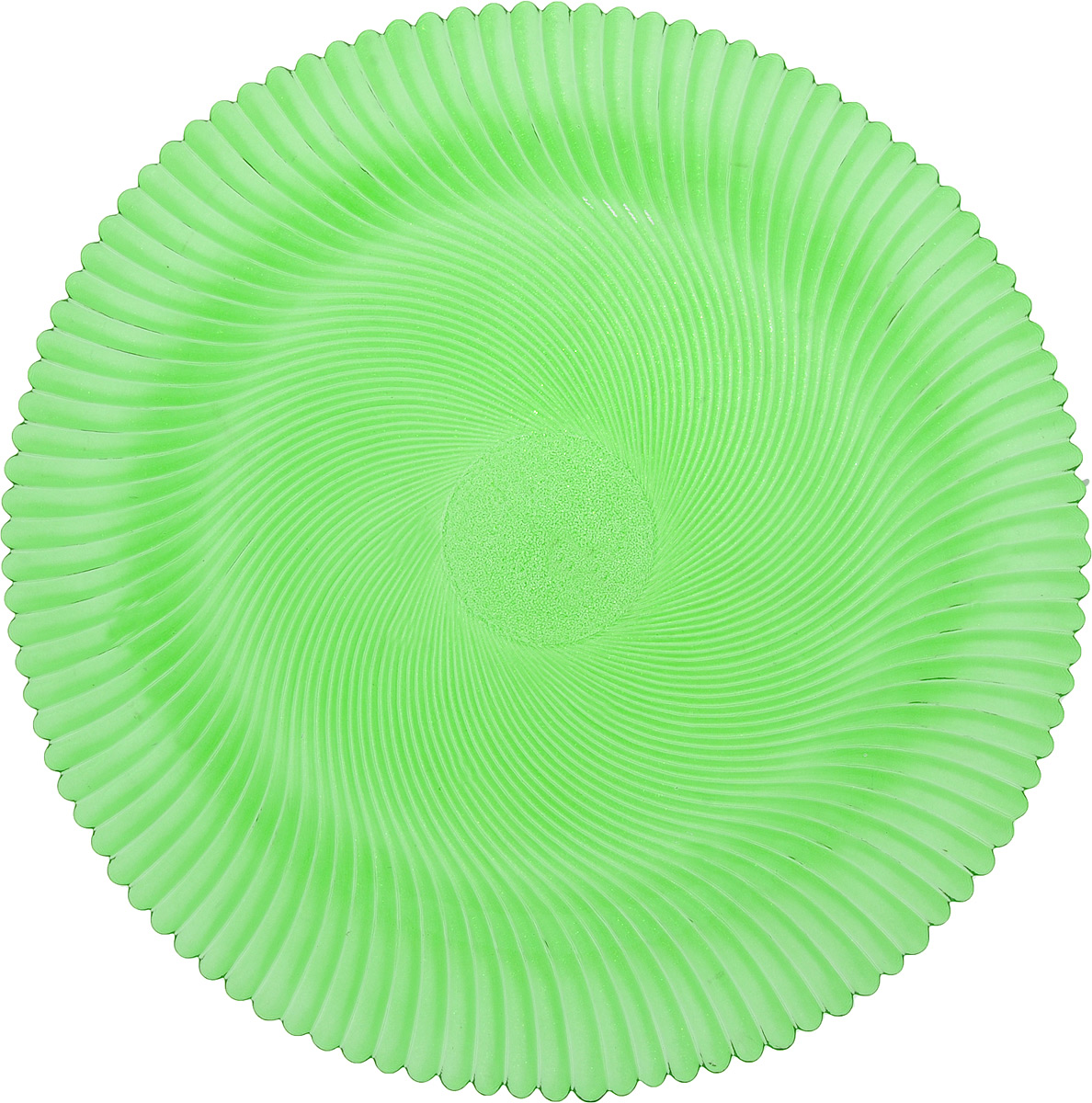 Блюдо NiNaGlass Альтера, цвет: зеленый, диаметр 32 см ваза ninaglass дана цвет шоколад высота 16 см