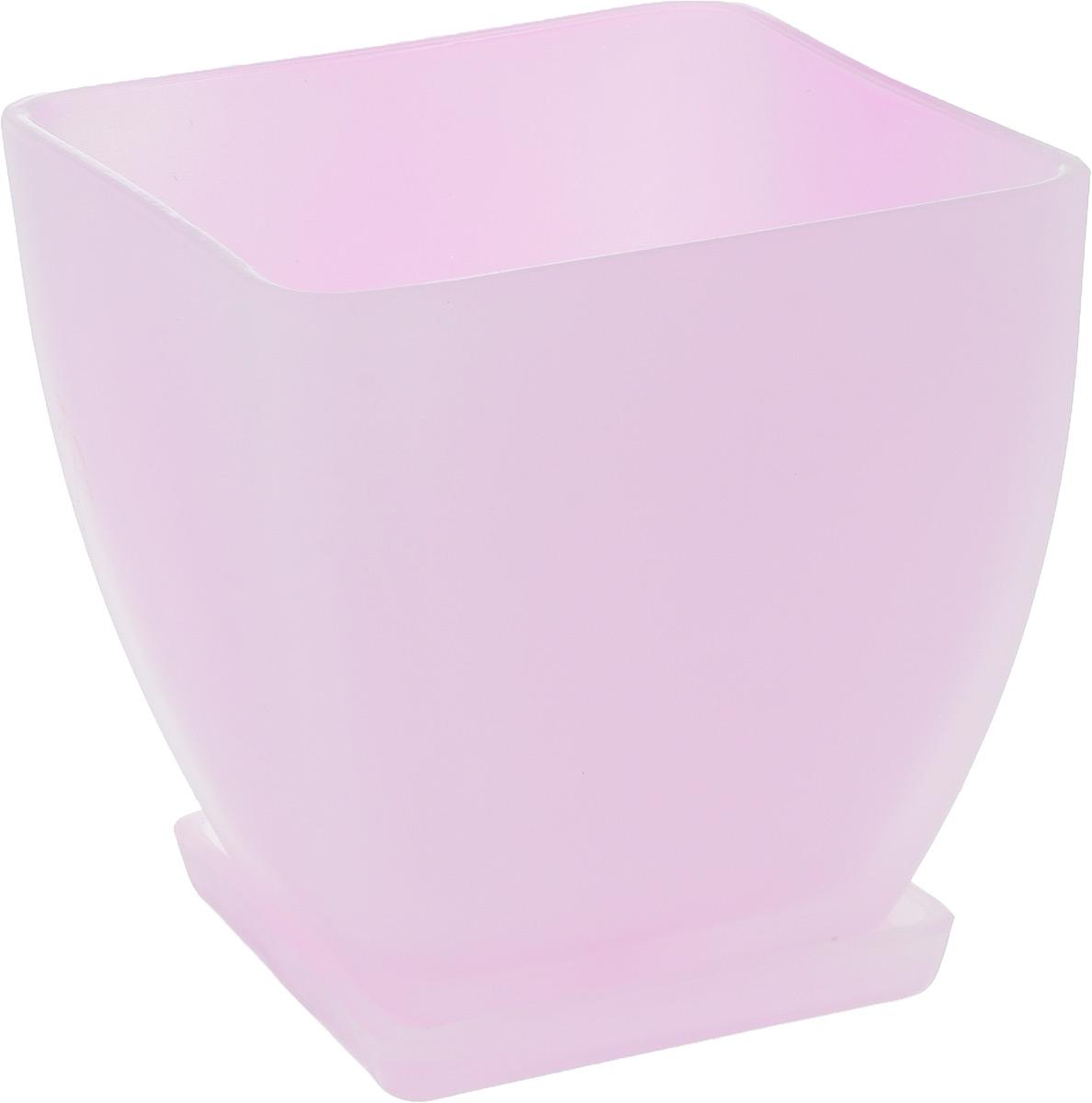 Горшок для цветов NiNaGlass Бетти, с поддоном, цвет: розовый, 14,5 х 14,5 х 13,5 см91-016 РОЗ-ФЛУОРГоршок для цветов NiNaGlass Бетти изготовлен из высококачественного стекла и оснащен поддоном для стока воды.Изделие прекрасно подойдет для выращивания растений дома и на приусадебных участках. Размеры изделия (по верхнему краю): 14,5 х 14,5 см.Высота изделия (с учетом поддона): 15 см.Размер поддона: 11 х 11 х 1,5 см.