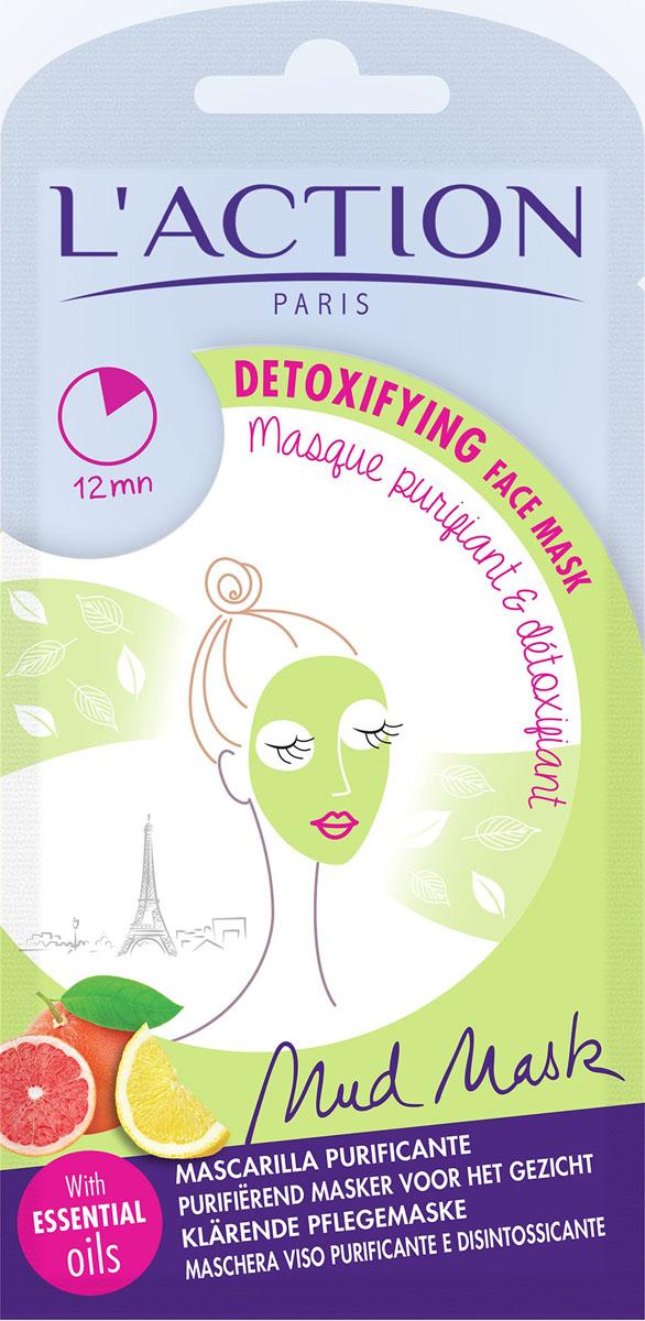 Laction Маска для лица от токсинов Detoxifiant, 15 г556177Маска для лица содержит эфирные масла цитрусовых и обогащенный минеральный комплекс, которые оказывают очищающее, тонизирующее и освежающее действие. Масло кунжута обеспечивает глубокое проникновение активных компонентов. Маска избавляет кожу от загрязнений, возвращает ей тонус и улучшает цвет лица.