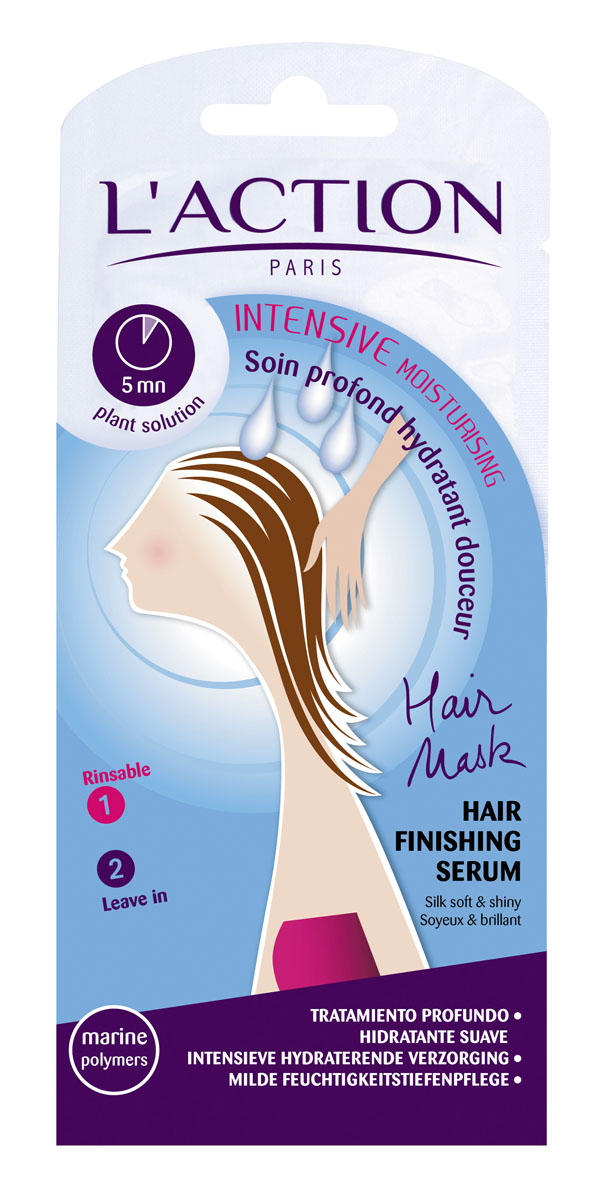 Laction Маска для волос увлажняющая, 15 мл+3,5 мл577073Растительные экстракты и полимеры морского происхождения обеспечивают волосам необходимое увлажнение. Рапсовое и пальмовое масла делают волосы мягкими и сияющими здоровьем