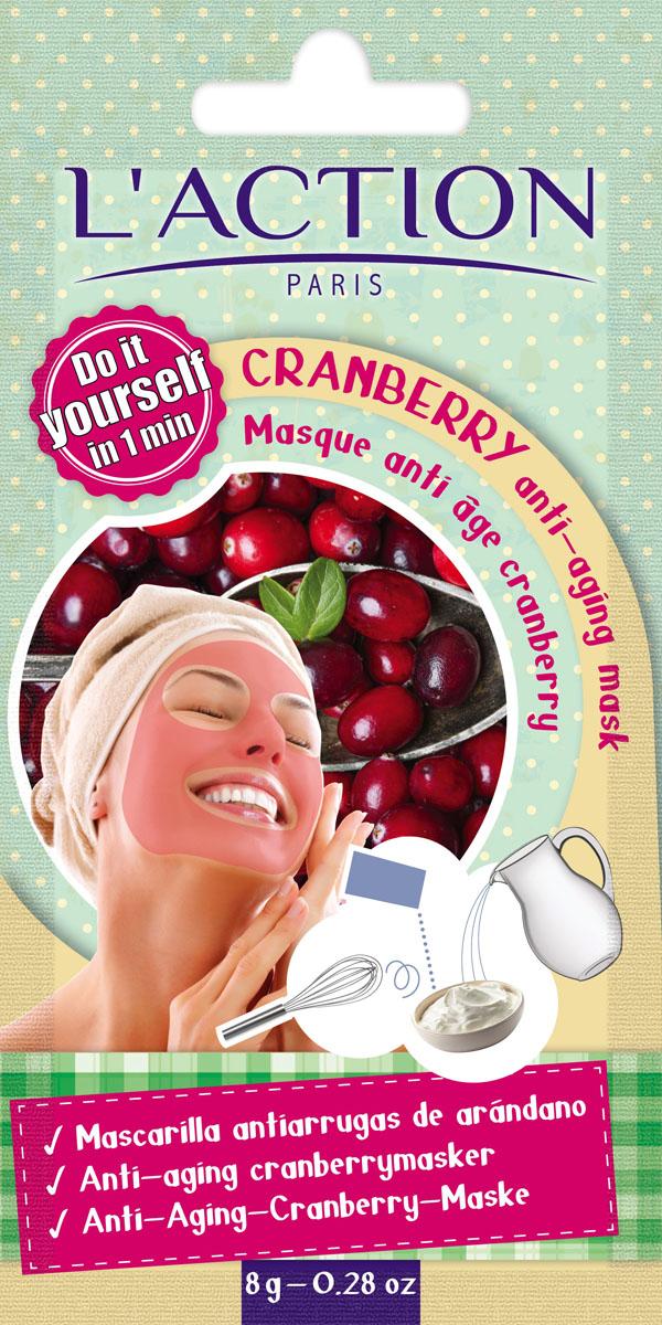 Laction Маска для лица антивозрастная на основе клюквы Cranberry anti-aging mask, 8 г817291Маска с экстрактом клюквы с восхитительным ягодным ароматом. Содержащиеся в маске антиоксиданты – полифенолы и токотриенолы питают и увлажняют кожу, предохраняют ее от клеточного старения.Способ применения: содержимое пакета развести в 1 столовой ложке воды до получения однородной массы. Нанести на лицо и шею, оставить на 10 минут и смыть теплой водой. Избегать попадание в глаза.
