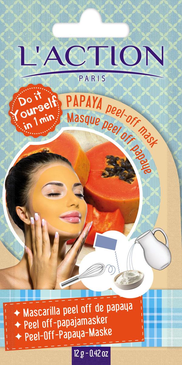 Laction Маска для лица с эффектом пилинга на основе папайи Papaya peel-off mask, 12 г817292Маска на основе папайи, обогащенная папином, смягчает кожу, делает ее более эластичной и оказывает эффект пилинга. Содержащиеся в маске каротиноиды обеспечивают гладкость кожи и восхитительный здоровый вид.