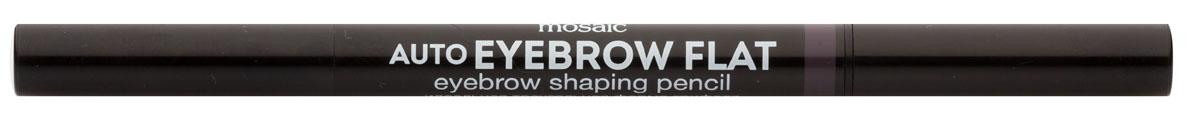 Eva Mosaic Карандаш для бровей Auto Eyebrow Flat, 0,25 г, 01818429Карандаш от брендаEva Mosaicпоможет любой женщине создать идеальную форму бровей. Он обладает удобной треугольной формой грифеля. С помощью острого кончика вы создадите четкими графичные линии, аплоский - сделает более мягкие и плавныештрихи. Благодаря щеточке на другом конце карандаша, вы сможете уложить брови или растушевать цвет. Грифель очень прочный, но при этом мягкий, не ломается и не крошится. Карандаш содержит витамины С и Е, сок листьев алоэ, масло жожоба и семян подсолнечника.