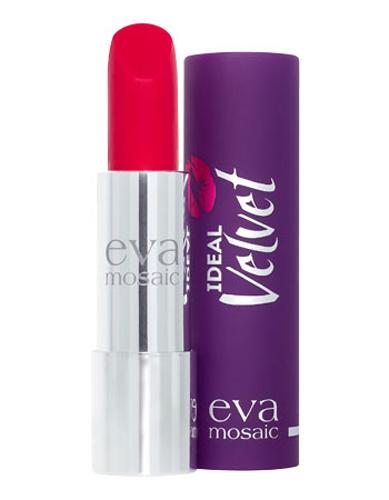 Eva Mosaic Губная помада Ideal Velvet матовая, 4,3 г, 06821980Матовая с высоким содержанием пигмента формула помады подарит вашим губам интенсивный цвет. Превосходно наносится, оставляя тонкое равномерное устойчивое покрытие. Входящие в состав витамины E и F смягчают и увлажняют нежную кожу губ в течение всего дня. Не содержит силикона. Помаду можно наносить самостоятельно или в сочетании с контурным карандашом. Для наилучшего результата рекомендуется наносить на предварительно увлажненную кожу губ.