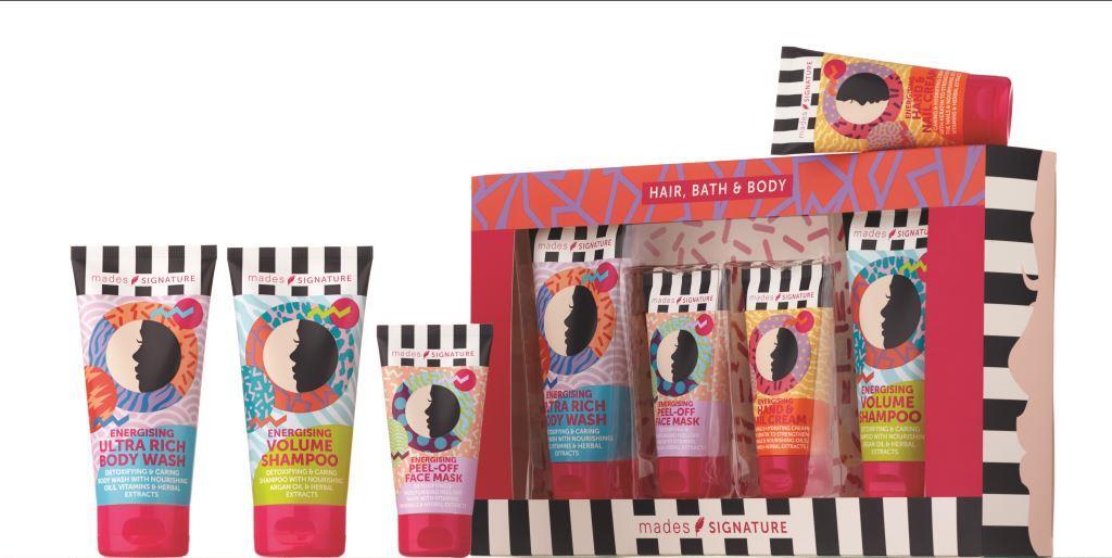 Mades cosmetics Набор (Гель для душа 150 мл + Маска для лица 50 мл + Крем для рук 75 мл + Шампунь 150 мл)
