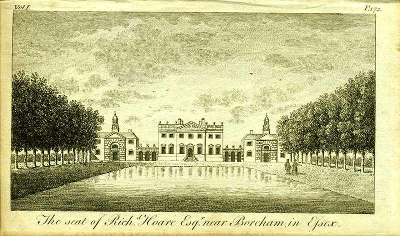 Англия. Поместье Ричарда Хора в графстве Эссекс. Резцовая гравюра. Англия, Лондон, 1776 год