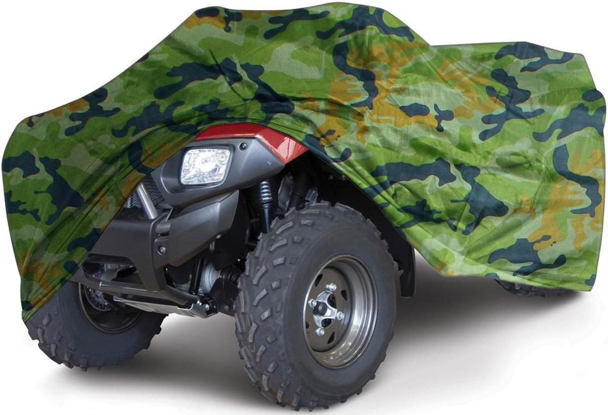 Чехол для квадроцикла  Tplus , универсальный, цвет: зеленый камуфляж. Размер XL (280 х 140 х 120 см). T002013 - Мототовары, экипировка, аксессуары - Аксессуары