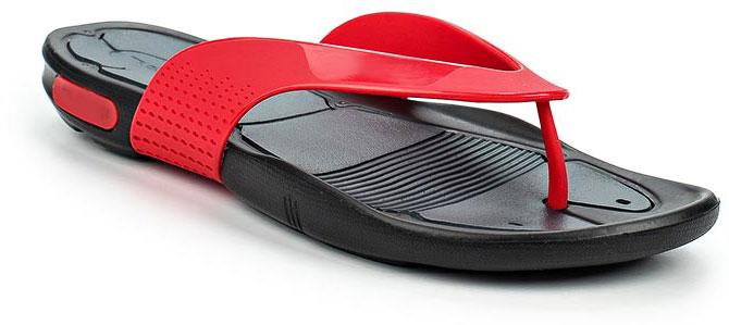 Сланцы мужские Speedo Pool Surfer Thong, цвет: красный, темно-серый. 8-09187B544-B544. Размер 12 (47)8-09187B544-B544Оригинальные мужские сланцы Pool Surfer Thong от Speedo очень удобны и невероятно легки. Верх обуви выполнен из термополиуретана и оформлен брендовой надписью. Эргономичная стелька из материала ЭВА, который имеет пористую структуру, обладает великолепными теплоизоляционными и морозостойкими свойствами, 100% водонепроницаемостью, придает обуви амортизационные свойства, мягкость при ходьбе, устойчивость к истиранию подошвы. Специальный рисунок подошвы как с внутренней, так и с внешней стороны, гарантирует оптимальное сцепление при ходьбе, как по сухой, так и по влажной поверхности. Дренажные каналы на подошве распределяют воду, увеличивая для подошвы площадь контакта и обеспечивая максимальное сцепление с мокрой поверхностью. Сланцы - очень практичная и удобная летняя обувь. Они прекрасно подойдут для прогулок по пляжу или для похода в бассейн.