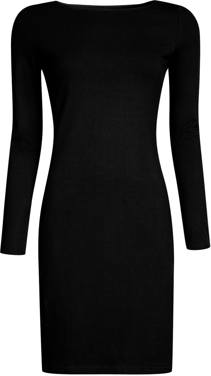Платье oodji Ultra, цвет: черный. 14001183B/46148/2900N. Размер L (48-170) платье oodji collection цвет черный белый 24001104 1 35477 1079s размер l 48