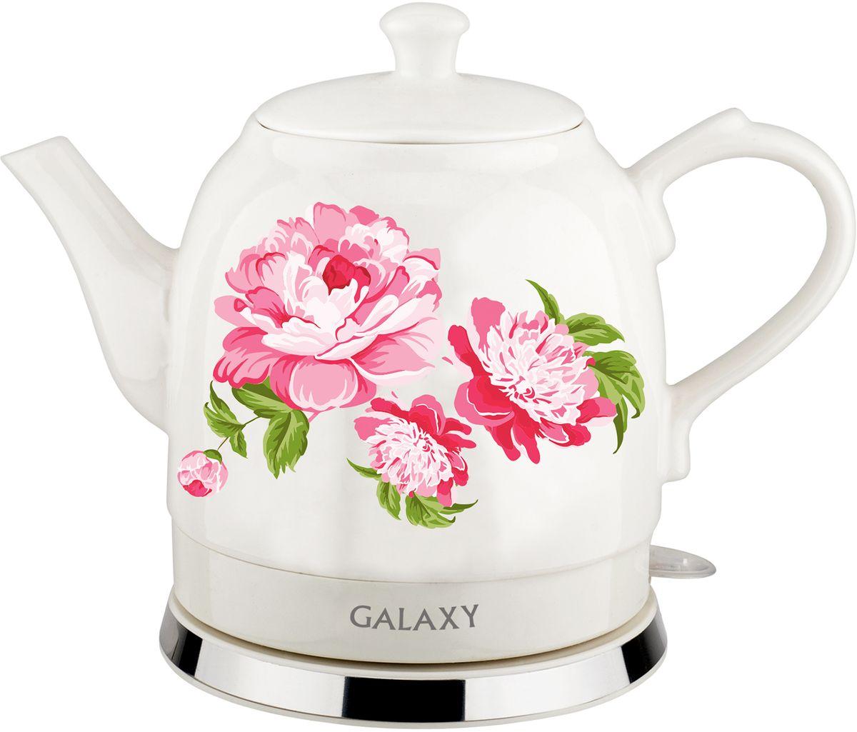 Galaxy GL 0503 чайник электрический4630003364074Керамический чайник Galaxy GL 0503 создает теплую атмосферу на кухне и располагает к душевной беседе зачашкой чая. Благодаря толстым стенкам, чайник работает бесшумно. Керамический чайник Galaxy GL 0503, как илюбая посуда из этого материала, долго сохраняет тепло, позволяя значительно сократить энергозатраты.Во время чаепития вы можете разместить керамический чайник Galaxy GL 0503 на столе. В отличие от пластиковыхи металлических чайников, керамический чайник вписывается в картину чаепития очень гармонично.