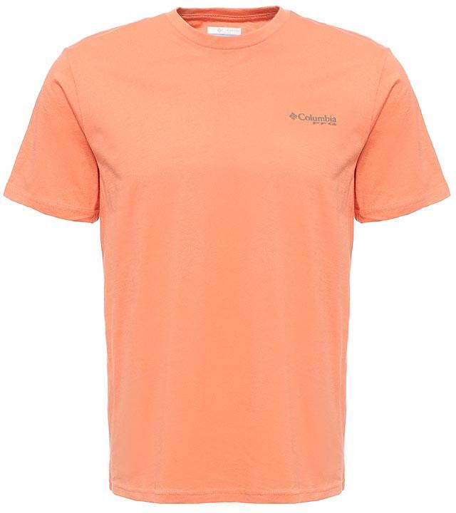 Футболка мужская Columbia PFG Tools Elements SS T-shirt, цвет: оранжевый. 1717221-801. Размер M (46/48)