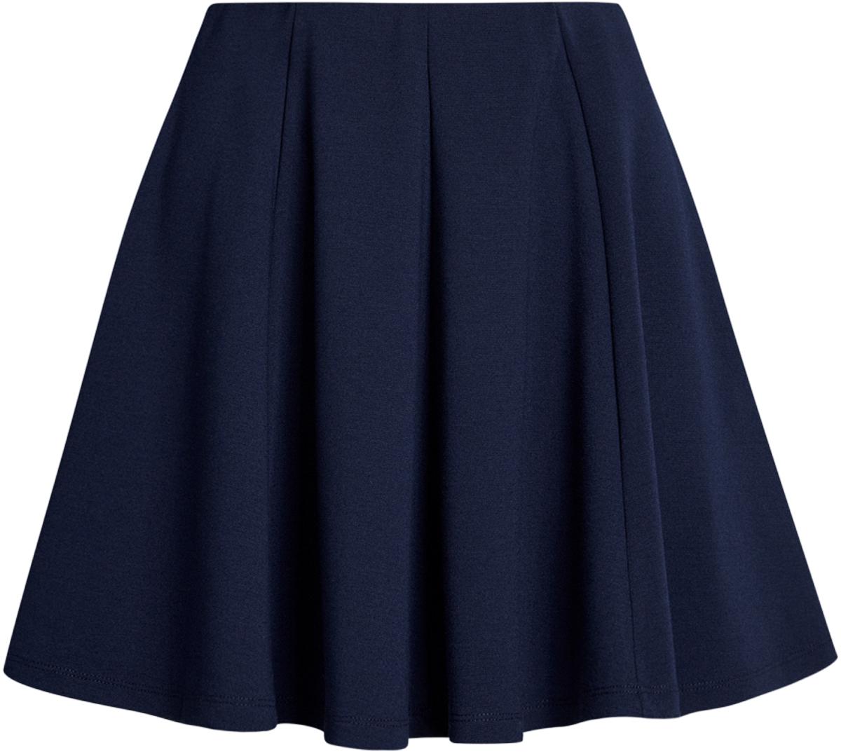цены  Юбка женская oodji Ultra, цвет: темно-синий. 14102001B/38261/7900N. Размер L (48)