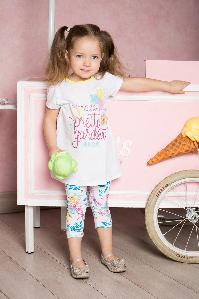 Футболка для девочки Sweet Berry Baby, цвет: белый. 712013. Размер 80 ранец сова для девочки bb 80 разноцветный bag berry