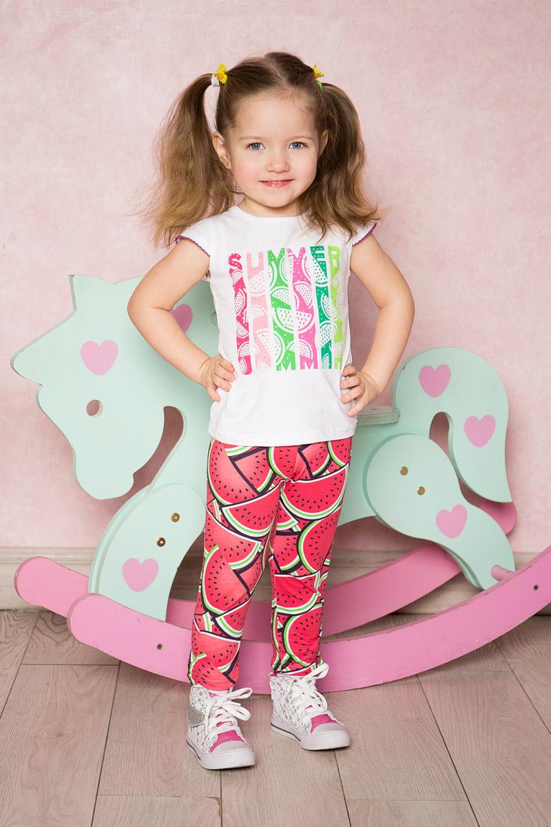 Футболка для девочки Sweet Berry Baby, цвет: белый. 712089. Размер 86712089Белая футболка для девочки Sweet Berry выполнена из качественного эластичного хлопка. Модель с круглым вырезом горловины и короткими рукавами-крылышками оформлена оригинальным принтом. Воротник дополнен мягкой эластичной бейкой.