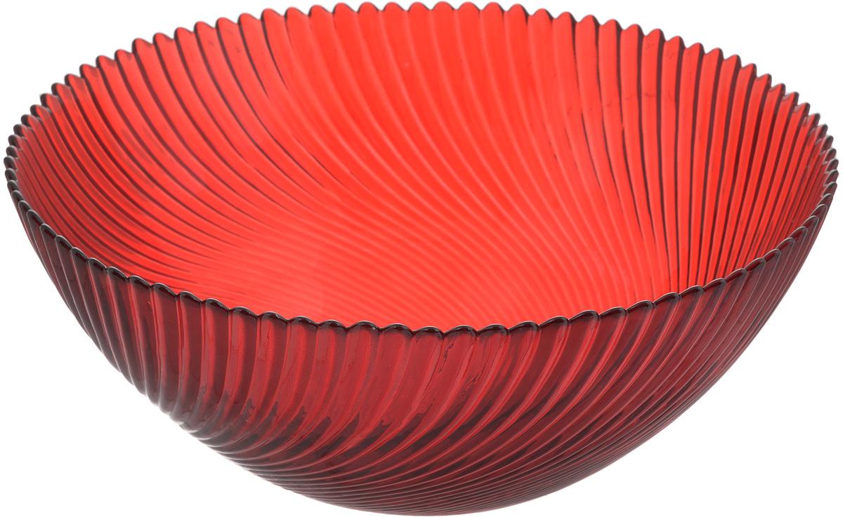 Салатник NiNaGlass Альтера, цвет: рубиновый, диаметр 25 см83-039-ф250 РУБСалатник NiNaGlass Альтера выполнен из высококачественного стекла и декорирован рельефным узором. Он подойдет для сервировки стола как для повседневных, так и для торжественных случаев.Такой салатник прекрасно впишется в интерьер вашей кухни и станет достойным дополнением к кухонному инвентарю. Подчеркнет прекрасный вкус хозяйки и станет отличным подарком.Не рекомендуется использовать в микроволновой печи и мыть в посудомоечной машине.Диаметр салатника (по верхнему краю): 25 см.Высота стенки: 10,5 см.